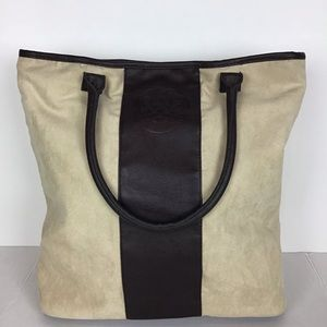 Vince Camuto Brown Leather and Suede Tote